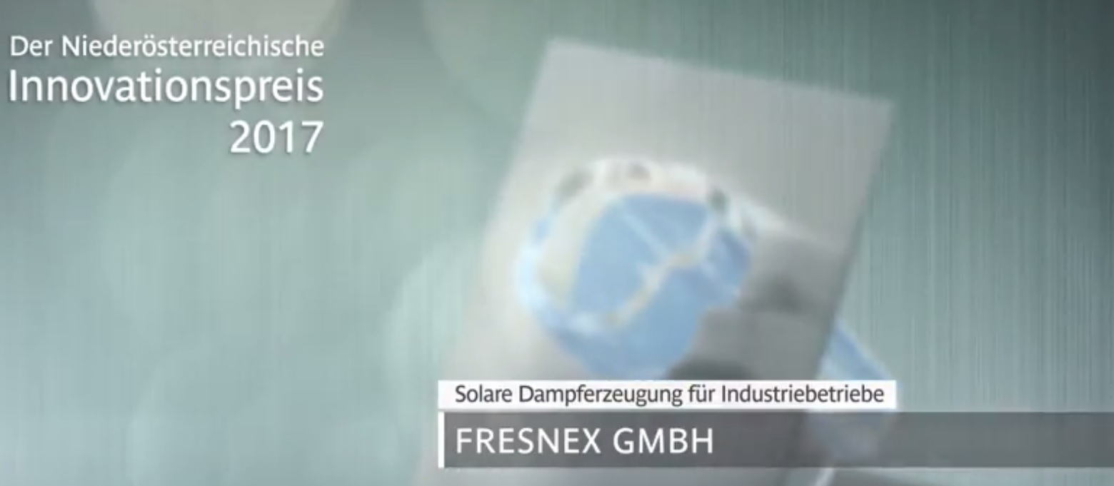 FRESNEX solar steam project - NOE innovition prize